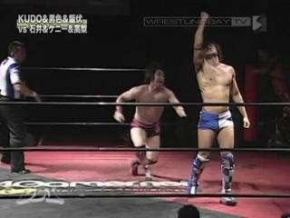 DDT - KUDO, Kota Ibushi & Danshoku Dino vs Kenny Omega, Keisuke Ishii & Masa Takanashi